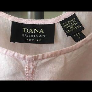 Dana Buchman Tops - DANA BUCHMAN Petite 100% Linen Pink Tank Top sz 4P